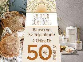banyo ve ev tekstil ürünlerinde yüzde 50 indirim
