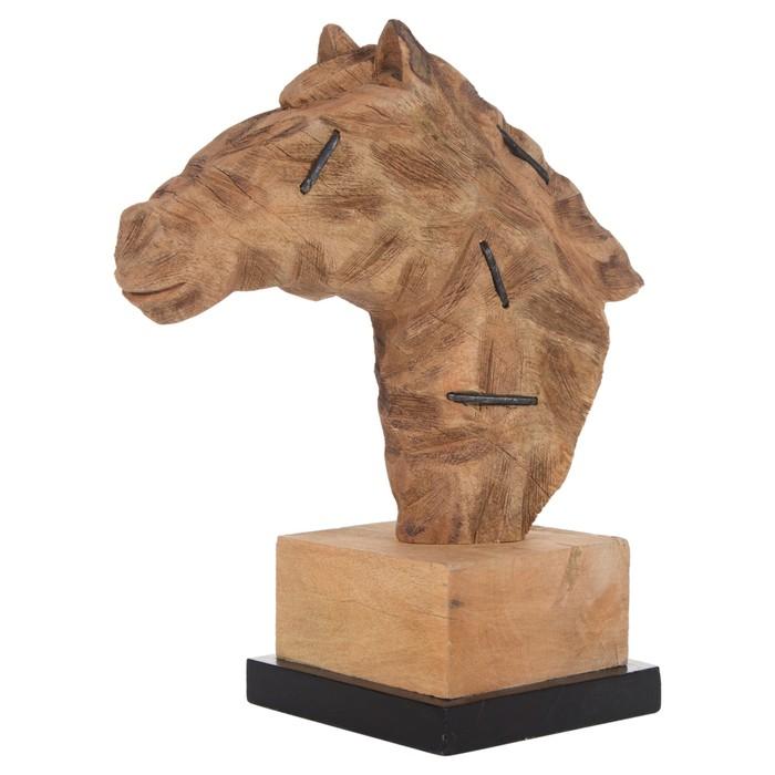 STAPLED HORSE BUST BİBLO 41X44 CM