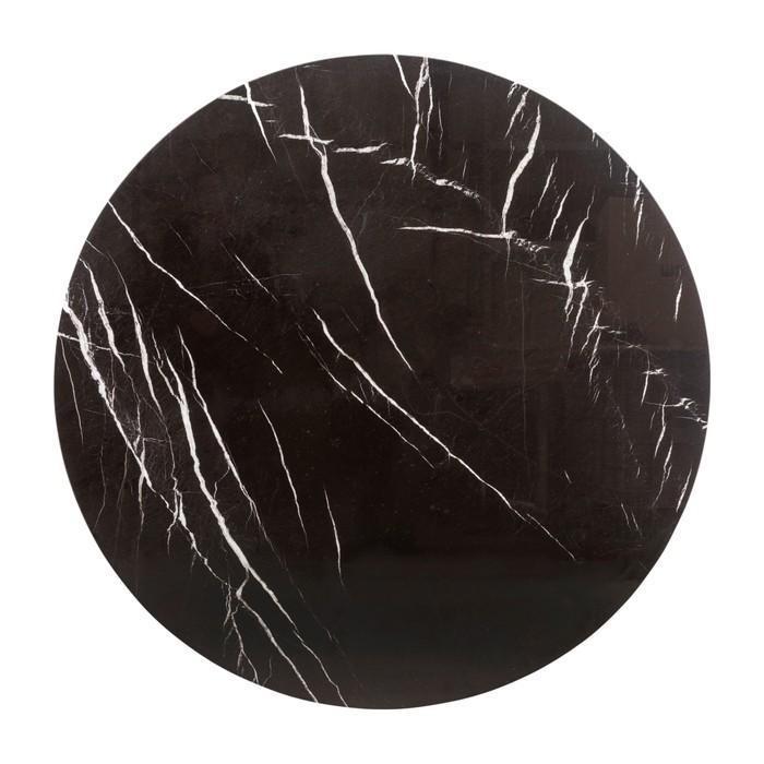 TOROS BLACK PATİNELİ MERMER TABLA - 120 & 120 CM