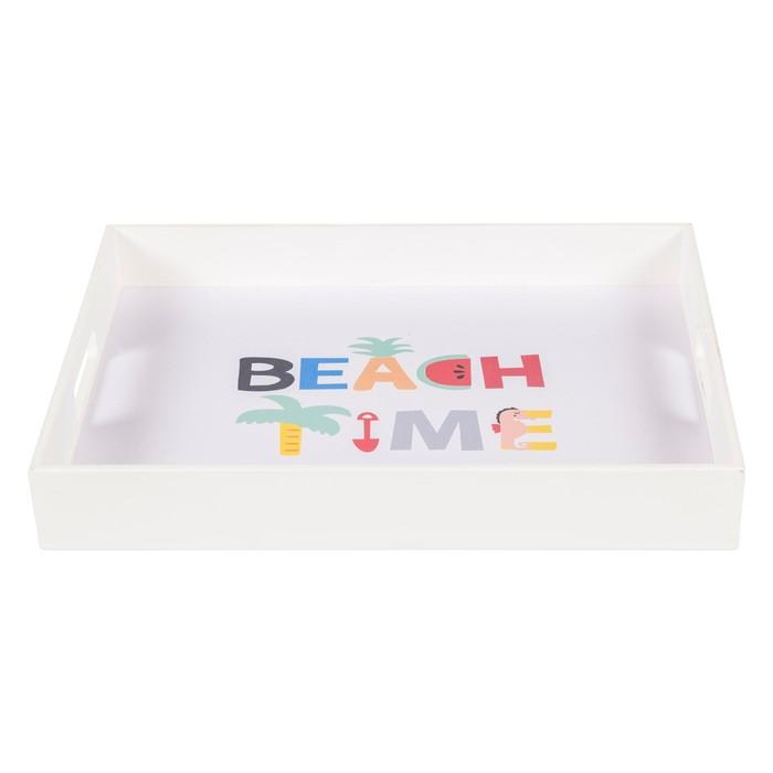 BEACH TIME TEPSI 38X28X6 CM