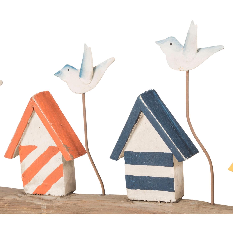 BIRDS OVER HOUSES BİBLO 38X4X14CM