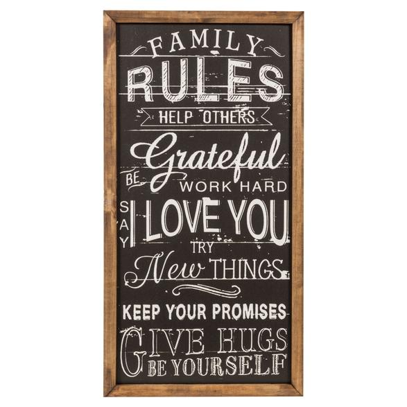 FAMILY RULES PANO 40X65CM