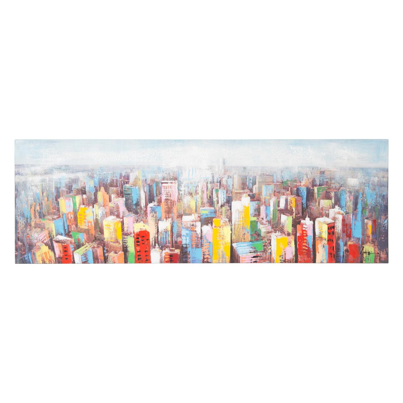 COLORFUL CITY YAĞLI BOYA TABLO 50X150