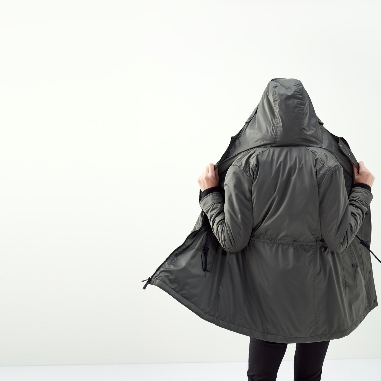 Kadın HAKİ CEP DETAYLI KAPÜŞONLU MONT 1198377|MUDO