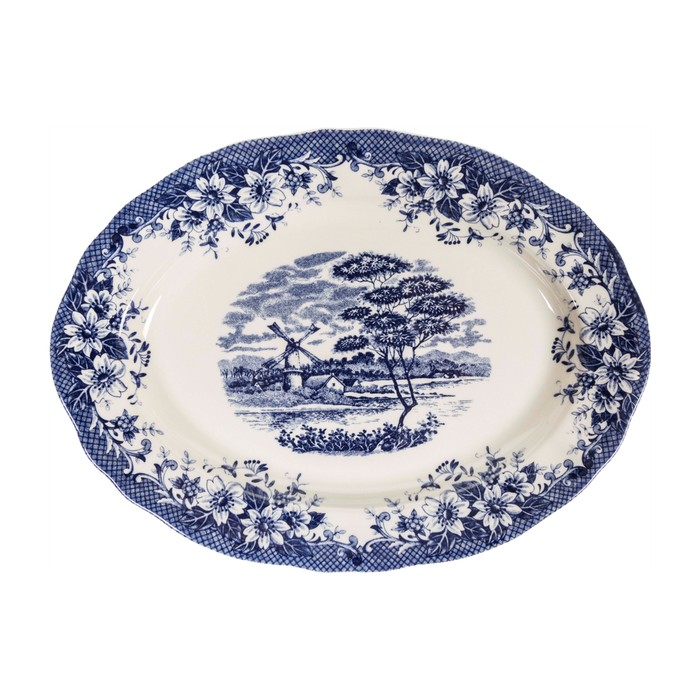 BLUE MILL OVAL SERVIS TABAĞI - 30CM