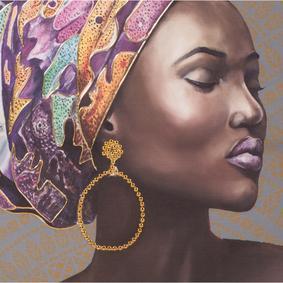 AFRICAN LADY 75X100 CM YAĞLIBOYA TABLO