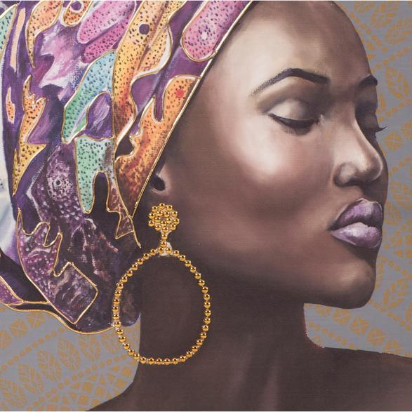 AFRICAN LADY II TABLO 75X100 CM