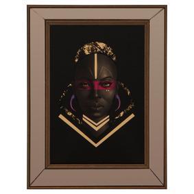 AFRICAN GIRL II ÇERÇEVELİ PANO 35X50 CM