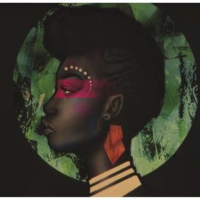 PANOAFRICAN GIRL I ÇERÇEVELİ PANO 35X50 CM