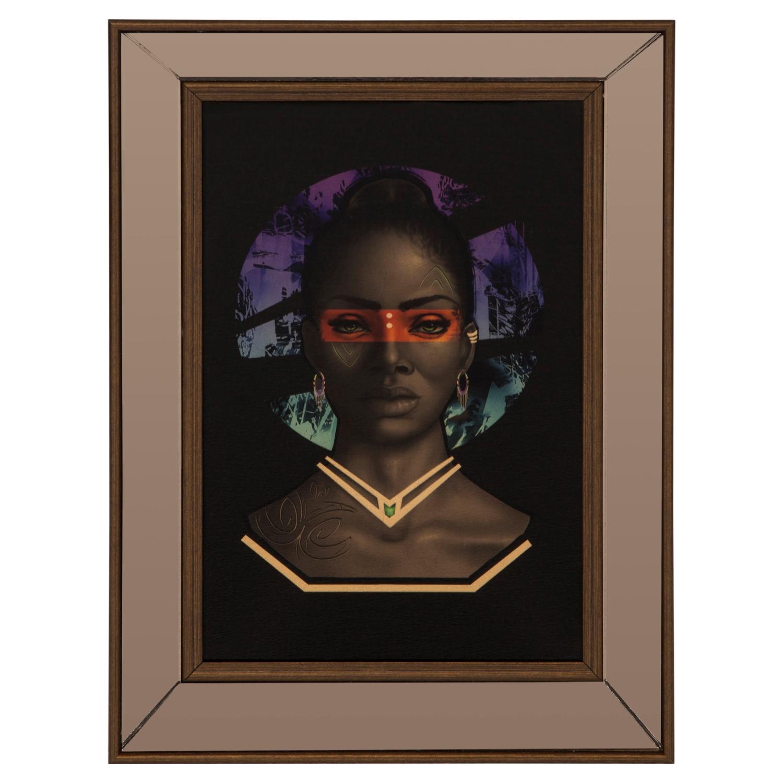 AFRICAN GIRL III ÇERÇEVELİ PANO 35X50 CM
