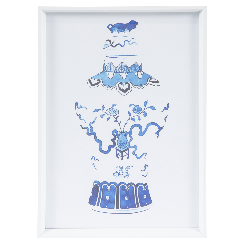 MING BLUE VAZO PANO 3  40X60 CM