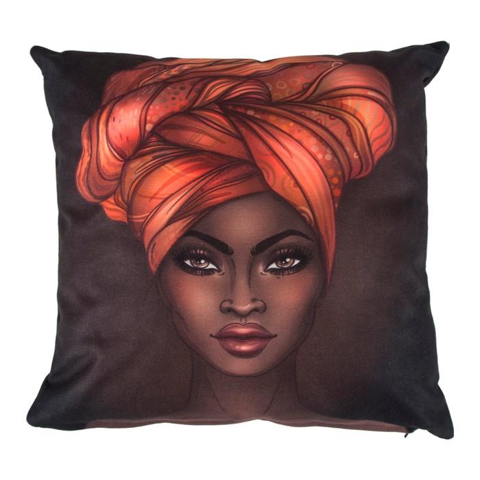 AFRICAN WOMAN KIRLENT 43x43 CM