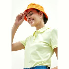 Kadın AÇIK SARI POLO YAKA T-SHIRT 1182936|MUDO