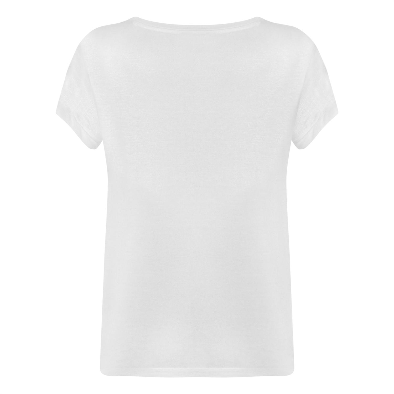 Kadın BEYAZ V YAKA BASIC T-SHIRT 1211304|MUDO