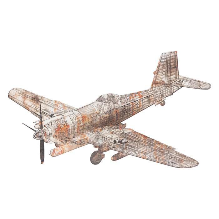 RUST AIRPLANE PANO 94X6X63 CM