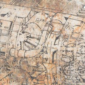 RUST AIRPLANE PANO 87X6X47 CM