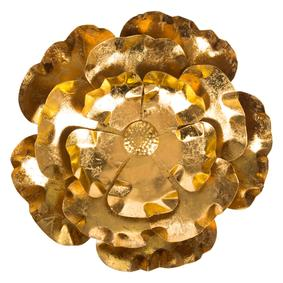 FLOWER PANO 44CM GOLD
