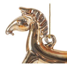 HORSE YILBAŞI AĞAÇ SÜSÜ GOLD 8CM