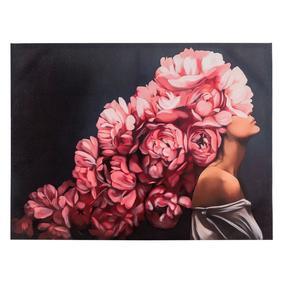 FLOWER LADY PINK I TABLO 90X120 CM