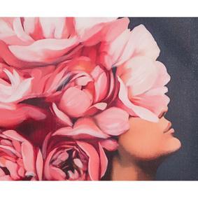 FLOWER LADY PINK I 75X100 CM