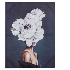 FLOWER LADY WHITE TABLO 90X120 CM