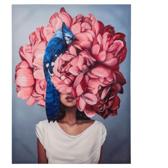 FLOWER LADY PINK II TABLO 75X100 CM
