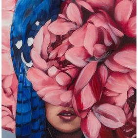 FLOWER LADY PINK II TABLO 90X120 CM