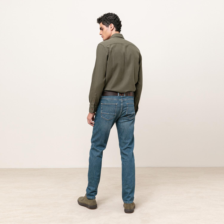 Erkek HAKİ SLIM GÖMLEK 1209020|MUDO