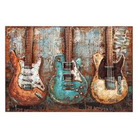 COLORFUL GUITAR METAL PANO 120X80CM