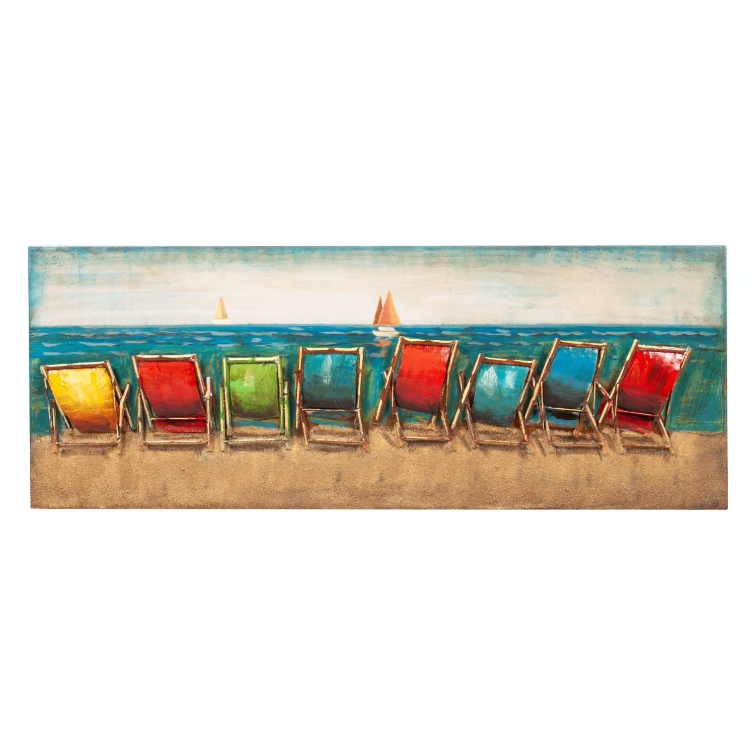 COLORFUL SUNBED METAL PANO 160X60CM