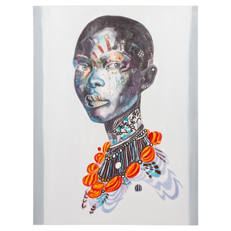 AFRICAN LADY III TABLO 75X100 CM