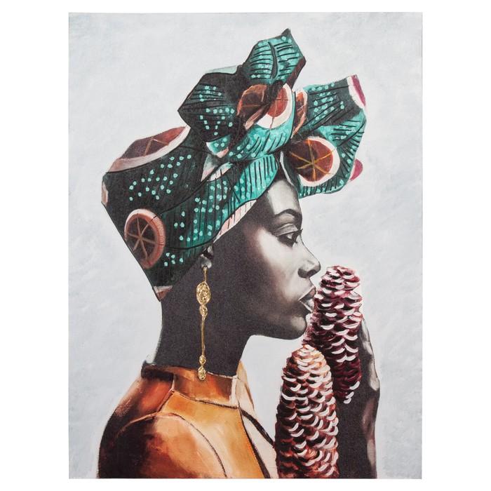 AFRICAN LADY IV TABLO 75X100 CM