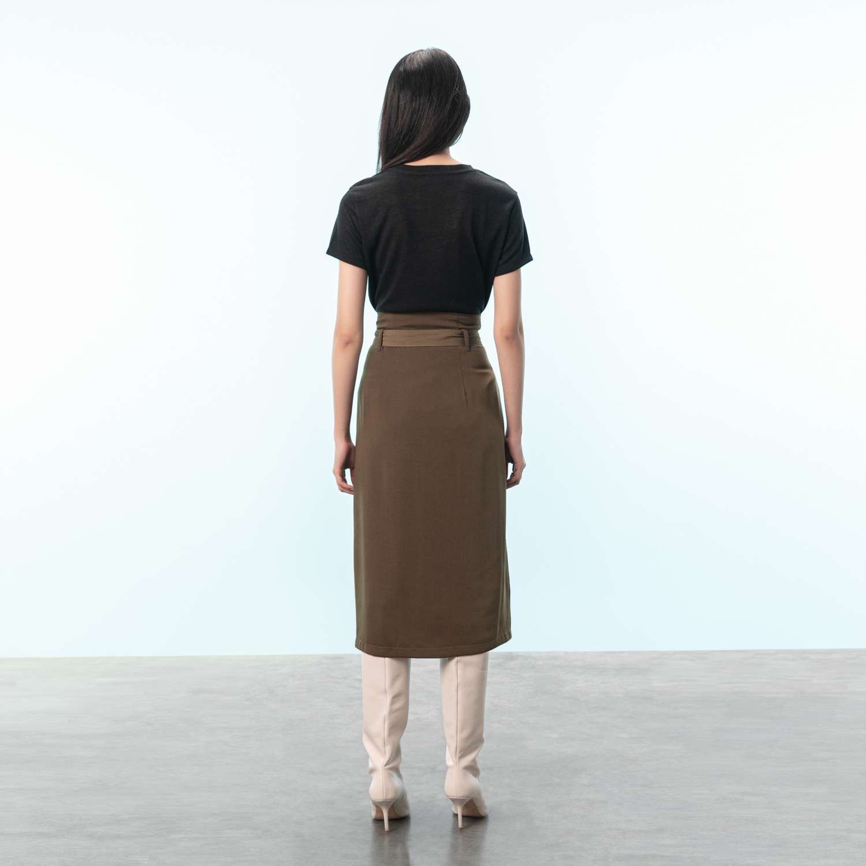 Kadın SİYAH V YAKA T-SHIRT 1212443|MUDO