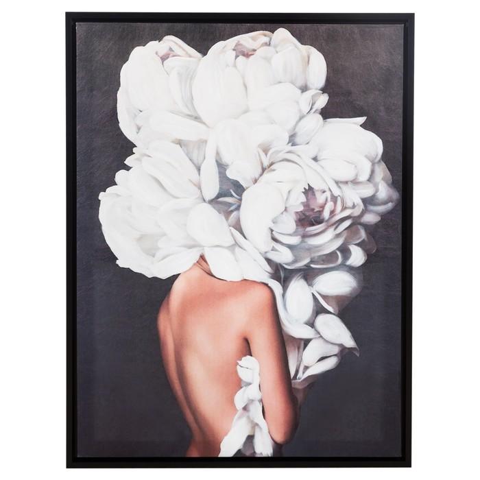 FLOWER LADY PINK III ÇERÇEVELİ TABLO 90X120 CM