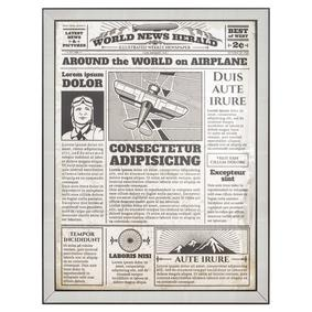NEWSPAPER PANO 82X107 CM