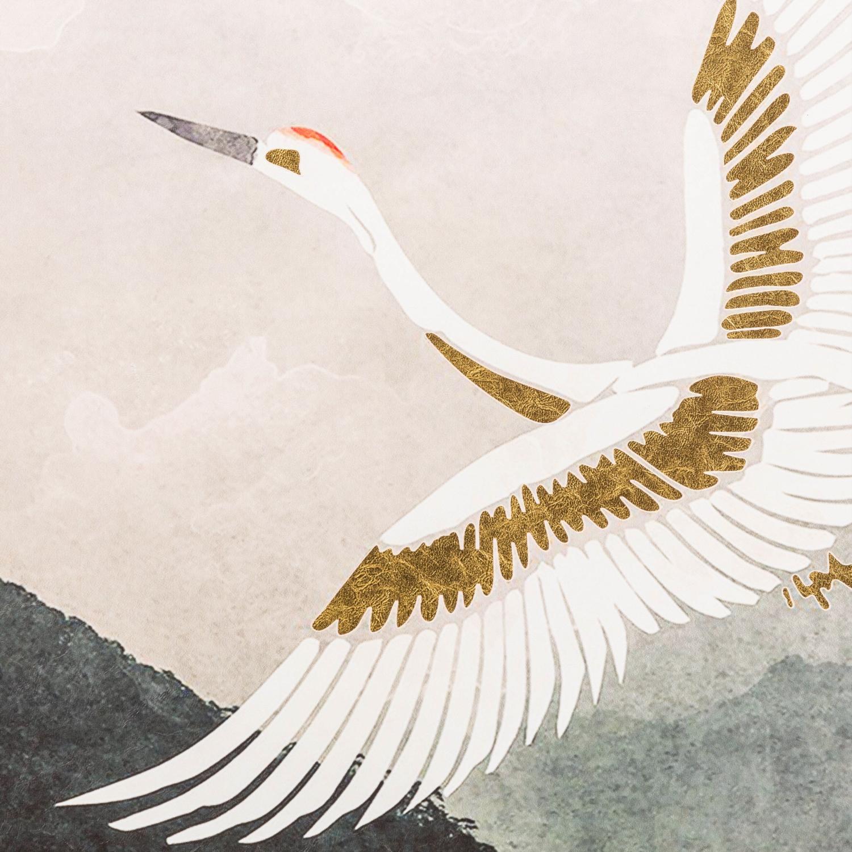 CRANE BIRD ÇERÇEVELİ PANO 80X80 CM