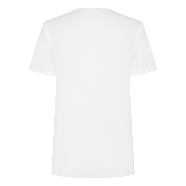 Erkek BEYAZ V YAKA PAMUK BASIC T-SHIRT 1209895|MUDO