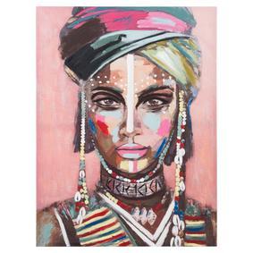 AFRICAN LADY TABLO III 75X100 CM