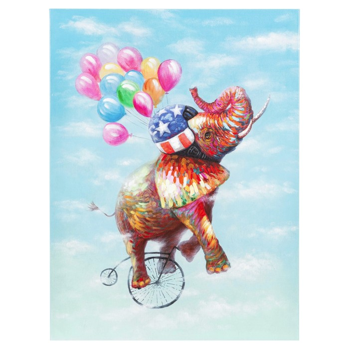 ELEPHANT UP YAĞLI BOYA TABLO 90X120CM