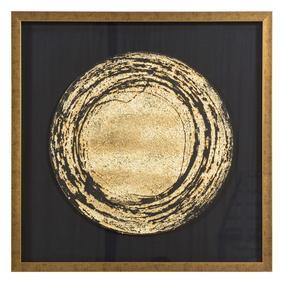 GOLD CIRCLE PANO I 82X82 CM