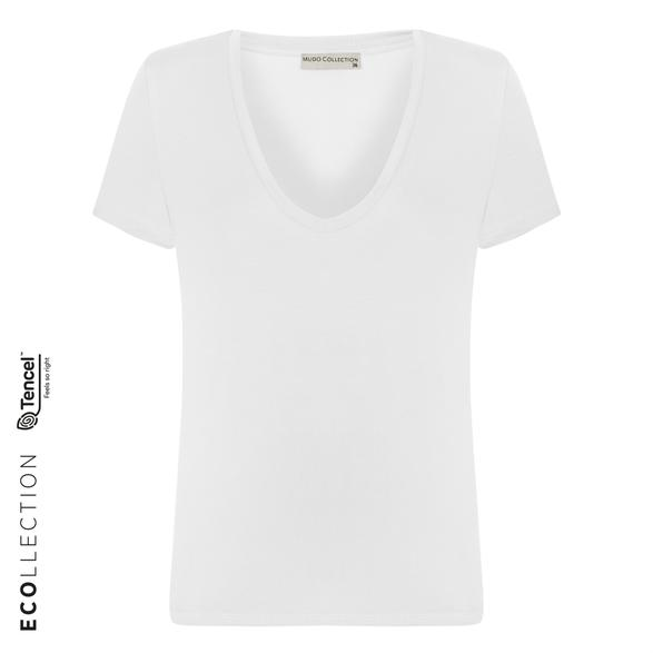 V YAKA BASIC T-SHIRT (TENCEL ™ )