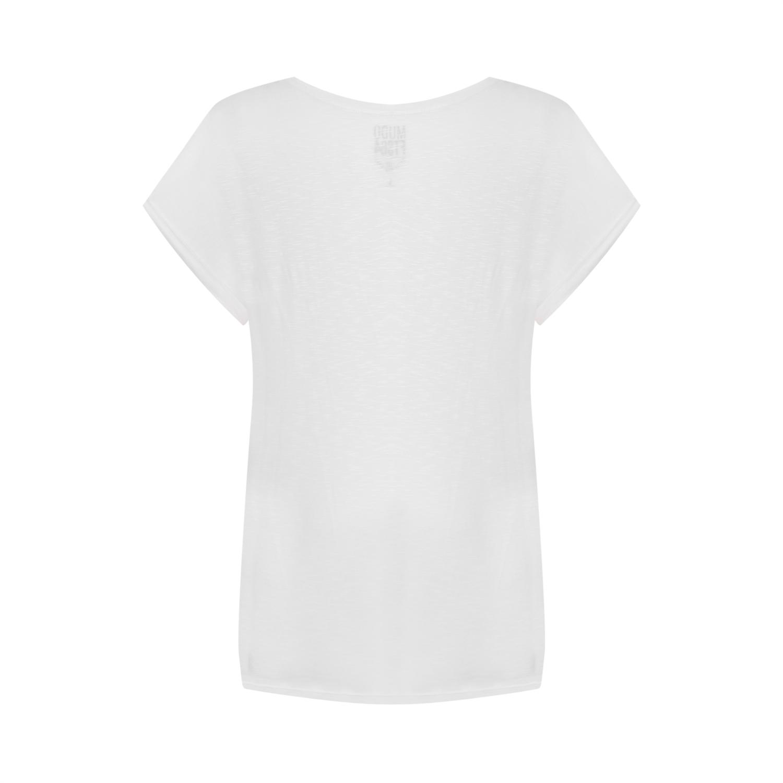 Kadın BEYAZ BİSİKLET YAKA BASIC T-SHIRT 1215033|MUDO