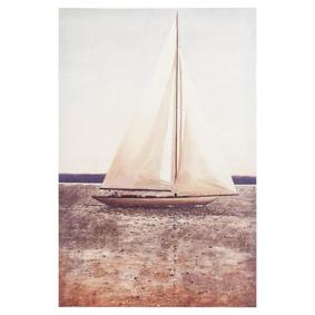 SAILBOAT DOKULU KANVAS TABLO 60X60CM
