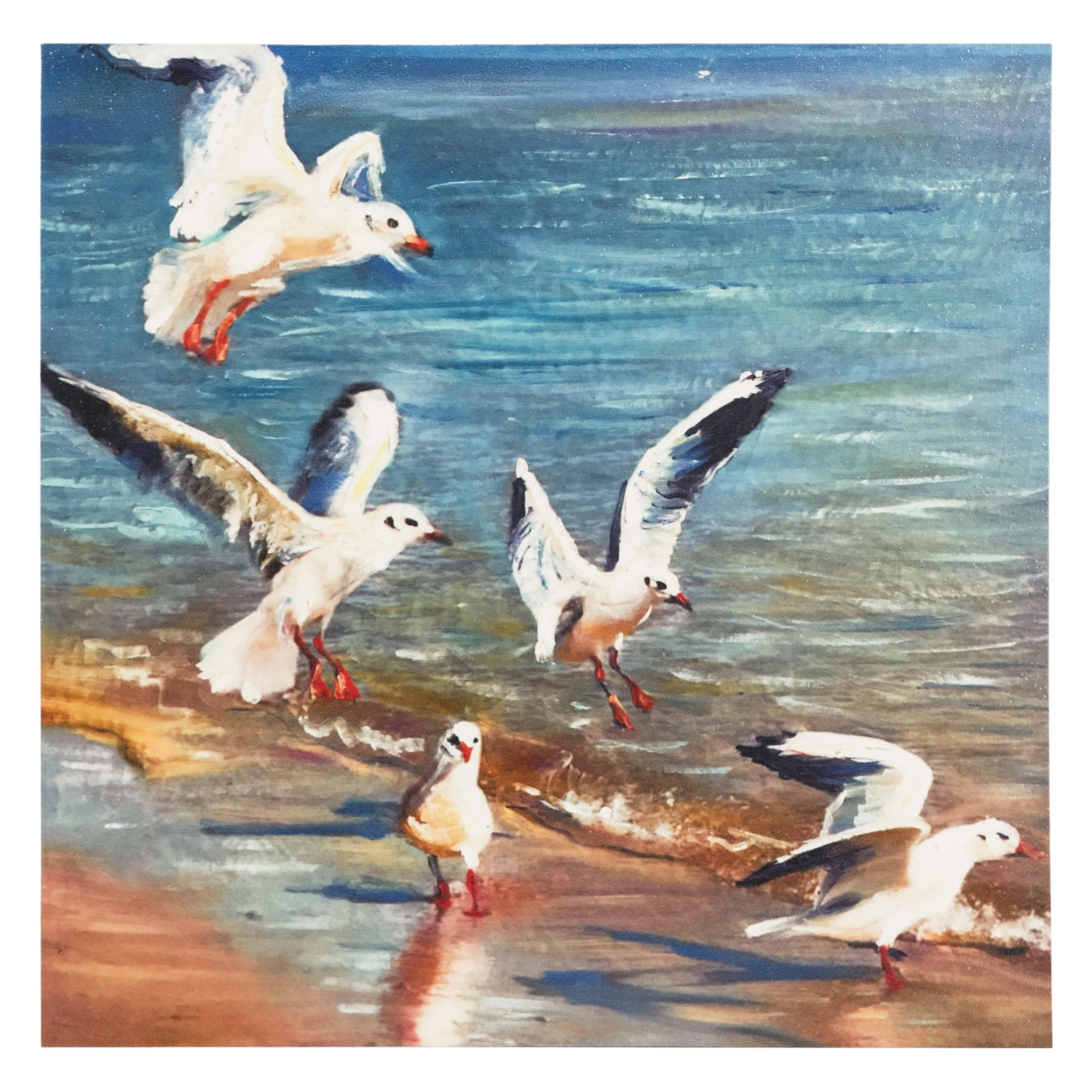 BIRDS IN SUMMER DOKULU KANVAS TABLO 80X80CM