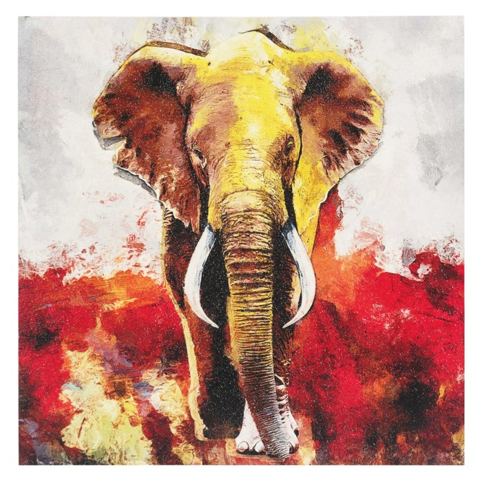 ELEPHANT LOOK DOKULU KANVAS TABLO 80X80CM