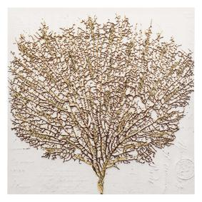 SHINY TREE WHITE KABARTMA KANVAS TABLO 80X80 CM