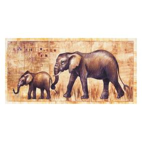 ELEPHANT FAMILY KANVAS TABLO 50X100CM