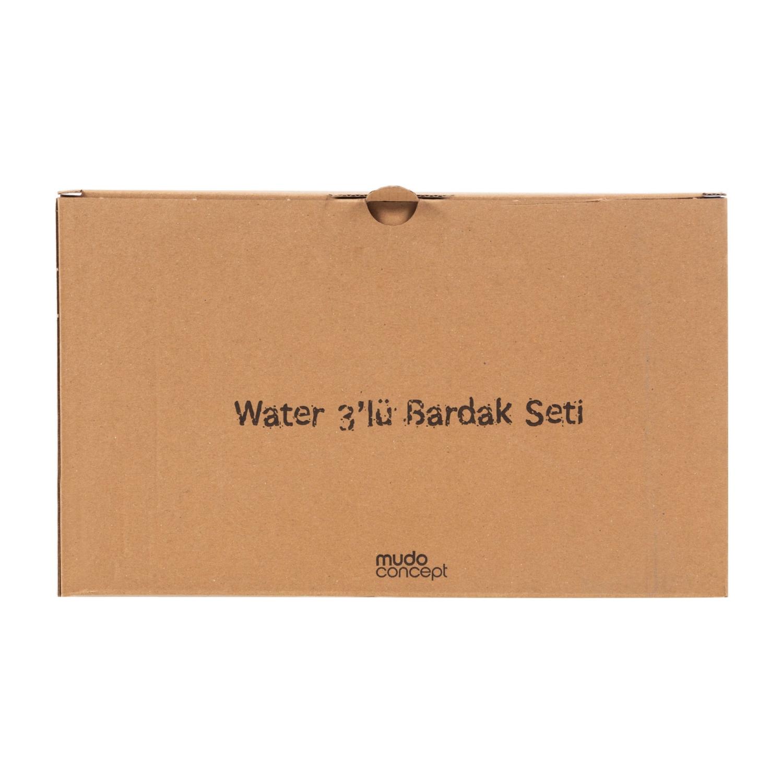 WATER BARDAK 3LÜ SET MAVİ TURKUAZ PEMBE