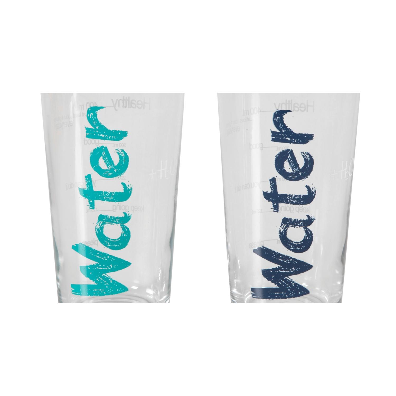 WATER BARDAK 570 ML 2'Lİ SET -MAVİ&TURKUAZ