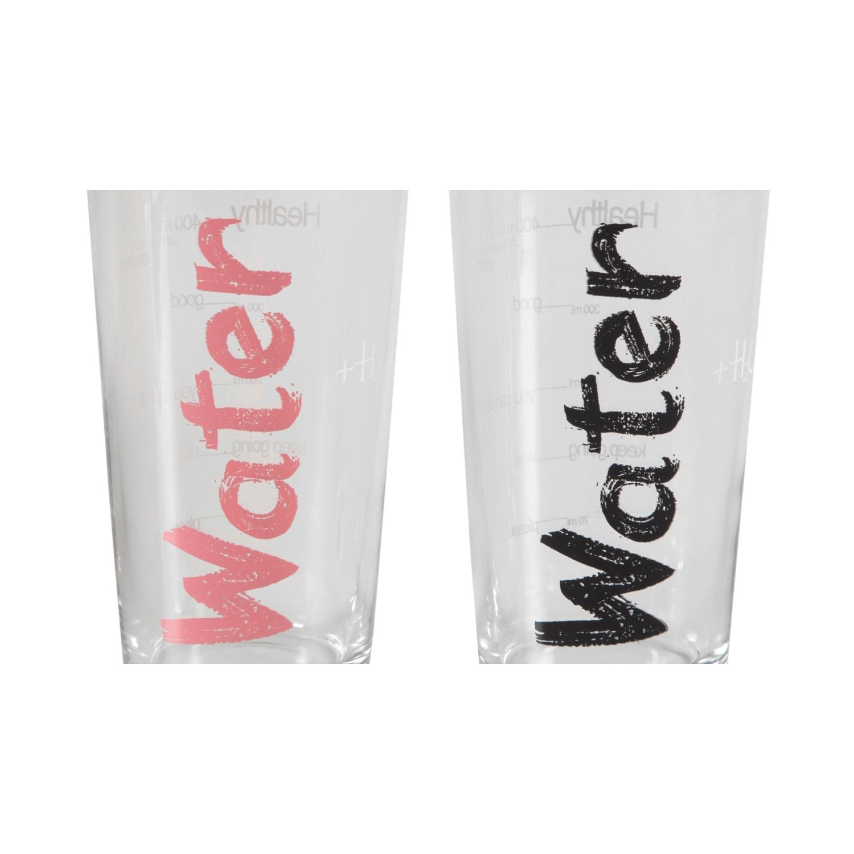 WATER BARDAK 570 ML 2'Lİ SET -SİYAH&PEMBE